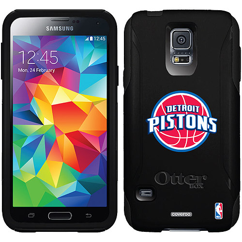 Detroit Pistons Design on OtterBox Commuter Series Case for Samsung Galaxy S5