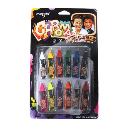 Sparkle Crayons (Face & Body Art Crayons 12Pcs  Sets)