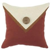 Brite Ideas Living Circa Solid Lava & Linen 17 x 17 in. Pillow