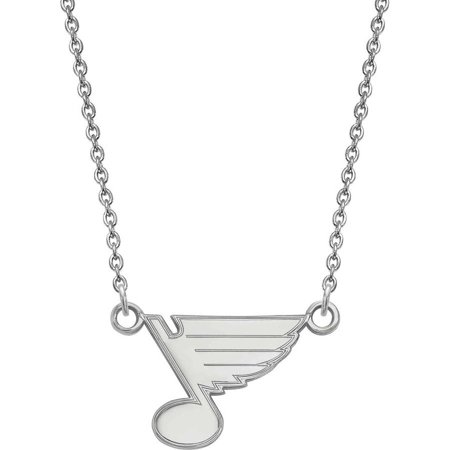 Louis Cardinals Stl Pendant (LogoArt NHL St. Louis Blues Sterling Silver Small Pendant with Necklace )