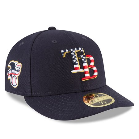 Tampa Bay Rays New Era 2018 Stars & Stripes 4th of July On-Field Low Profile 59FIFTY Fitted Hat - Navy