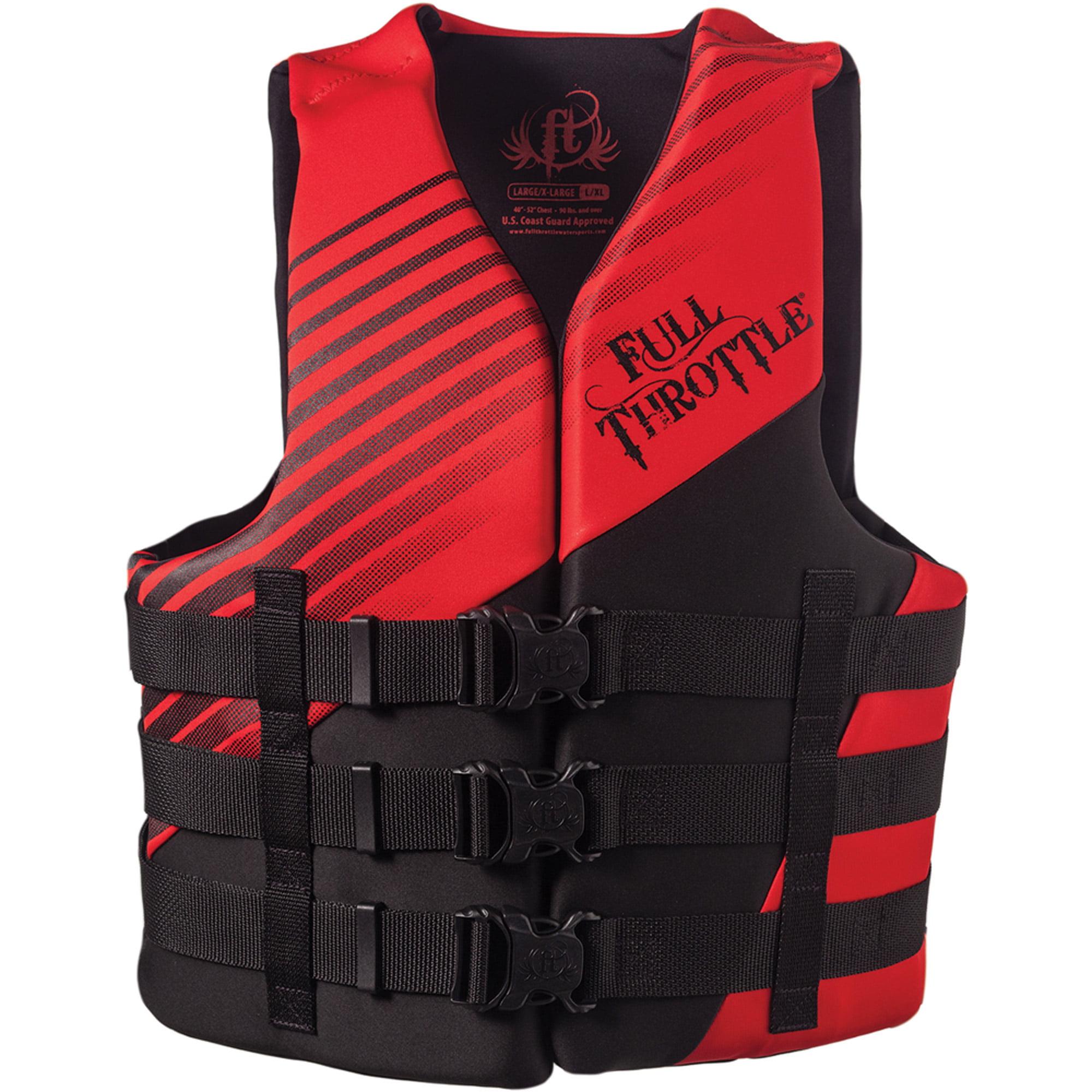 Full Throttle Rapid-Dry Life Vest, Red/Black
