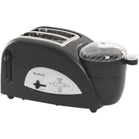 West Bend 2-Slice Egg and Muffin Toaster, Black
