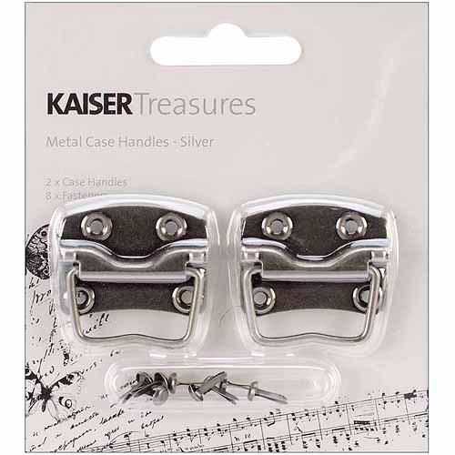 "Kaisercraft Treasures Metal Case Handle With Backplate, 1-1/4"" x .875"""