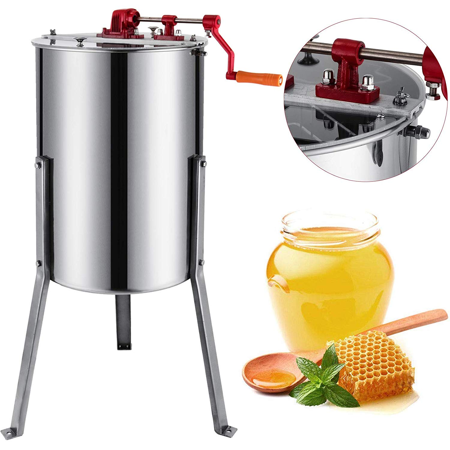 VEVOR 3 Frames Manual Honey Extractor Honey Spinner Bee ...