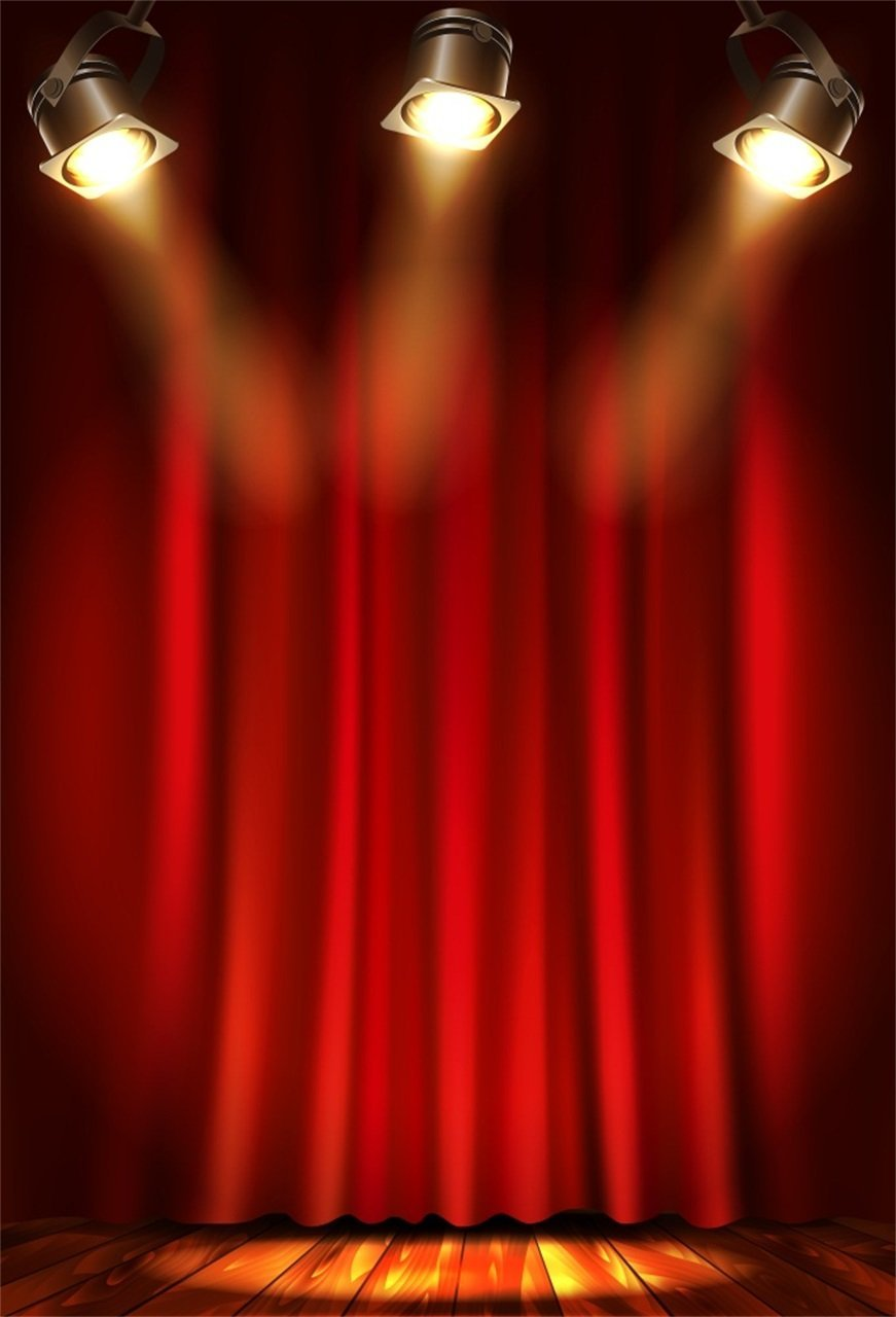 7x5FT Polyester Photography Background Empty Show Stage Theater ...