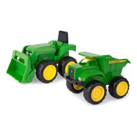 "John Deere 6"" Sandbox Toy Vehicle Set, Dump Truck and Tractor Toy Vehicles, 2 Pack, Green"