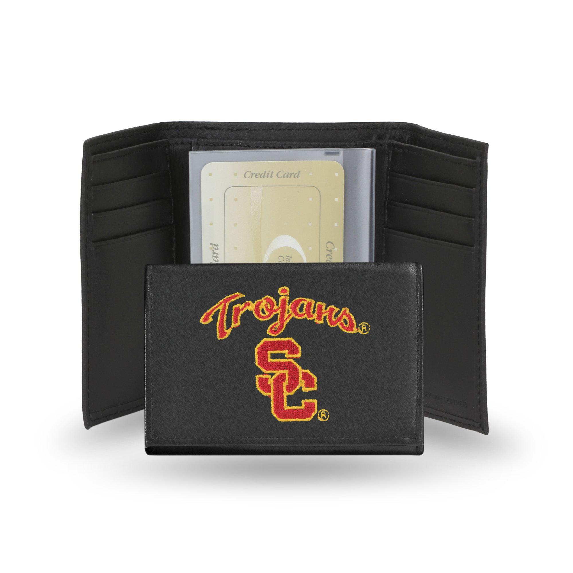 NCAA - Men's Southern California Trojans Embroidered Trifold Wallet