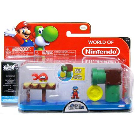 World of Nintendo Micro Land Playset Ice Mario & Sparkling Water (Best Sparkling Water In The World)