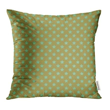 Green Falling Star - YWOTA Blue Aqua Star Pattern Green Astronomy Color Country Fall Fun Geometric Grid Pillow Cases Cushion Cover 18x18 inch
