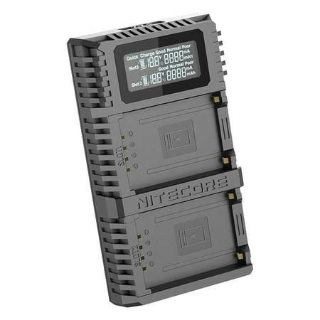NITECORE FX2 PRO Dual Slot USB Digital Charger for Fujifilm NP-T125 Camera