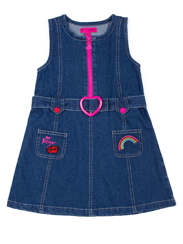 Girl's Embroidered Denim Dress