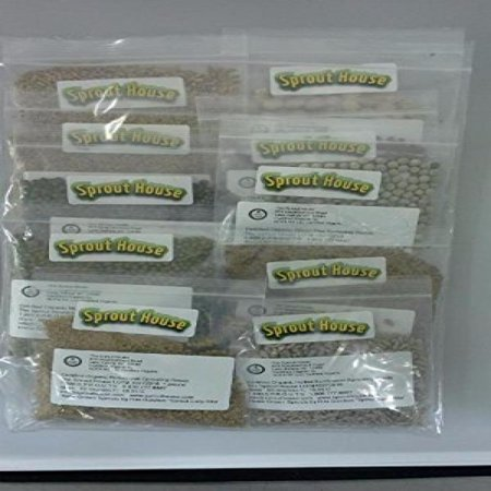 The Sprout House Assorted Organic Sprouting Seeds Sample, Pack of (Best Way To Grow Sprouts)