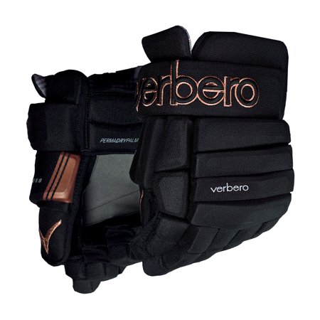 Verbero Cypress 4-Roll Hockey Gloves (Black/Copper)