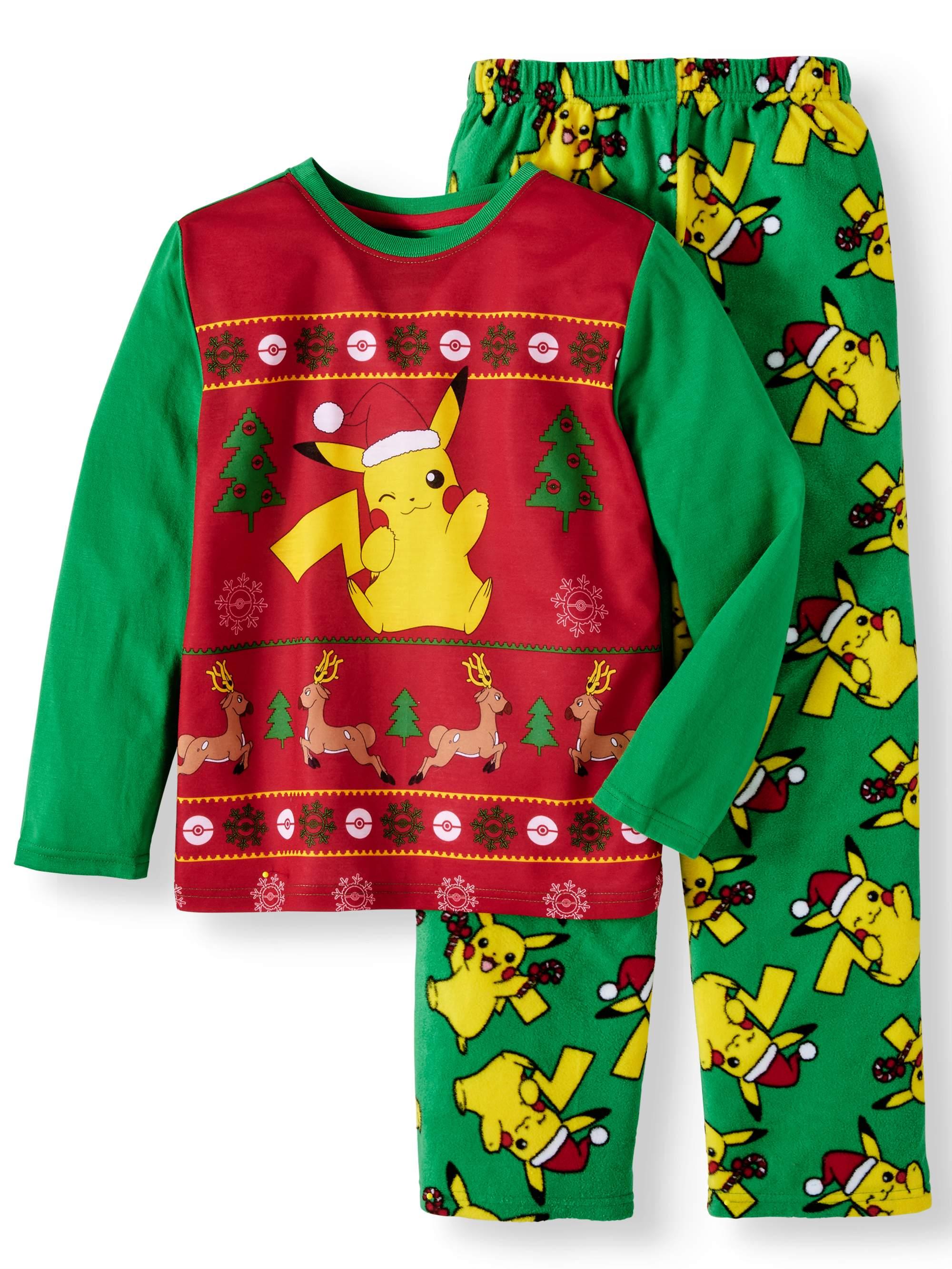 Pokemon Christmas 2 Piece Pajama Sleep Set (Little Boy & Big Boy)