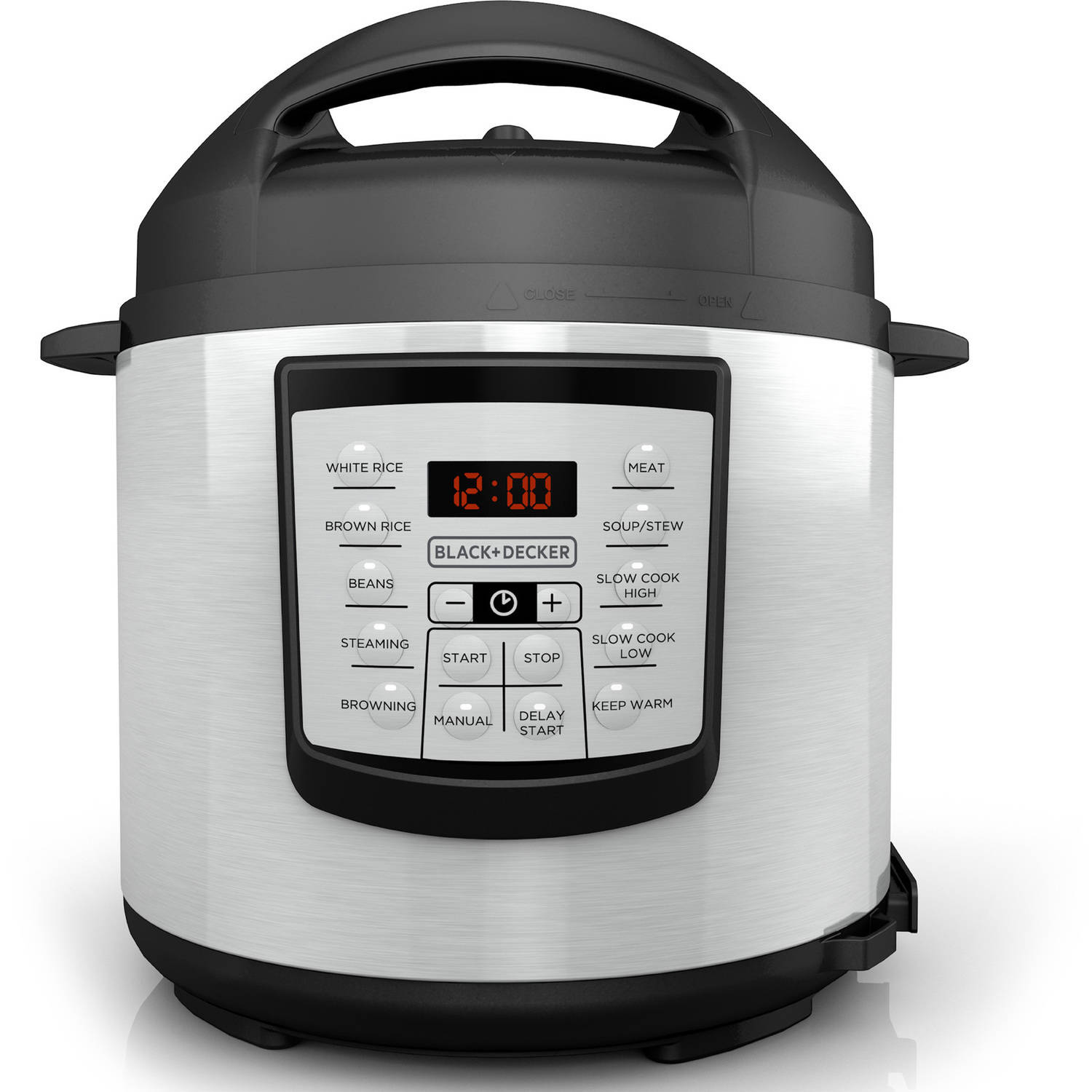 BLACK+DECKER 6 qt Digital Pressure Cooker, PR100 by Black & Decker