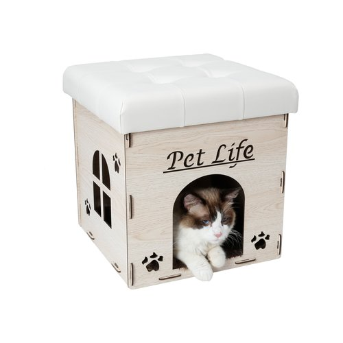 Tucker Murphy Pet Liam Collapsible Designer Cat House with Furniture Bench