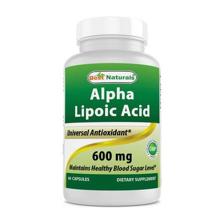 Best Naturals Antioxidant Alpha Lipoic Acid Capsules, 600mg, 60 Ct Alpha Lipoic Acid Cosmetics