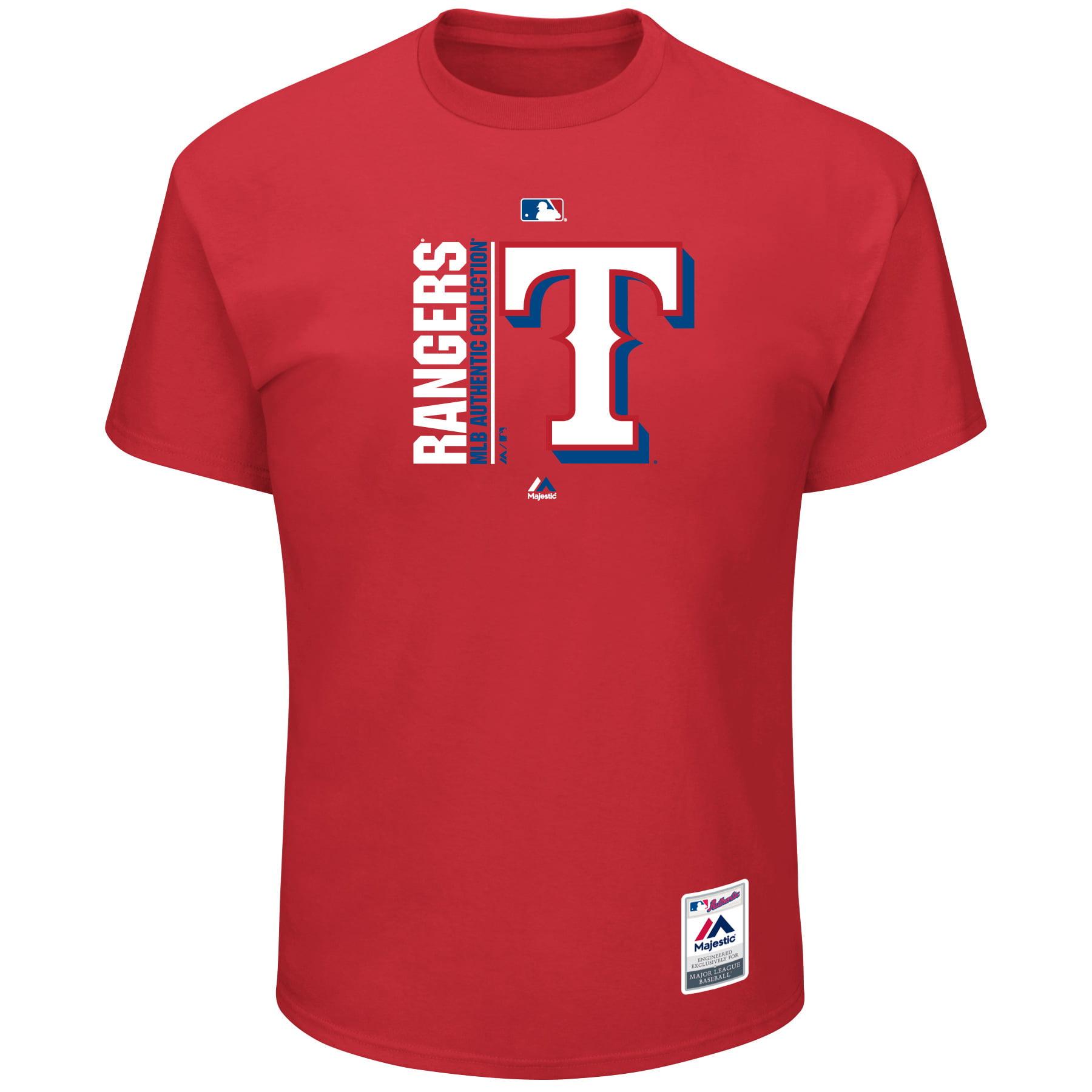 Texas Rangers Majestic Big & Tall Team Icon T-Shirt - Red