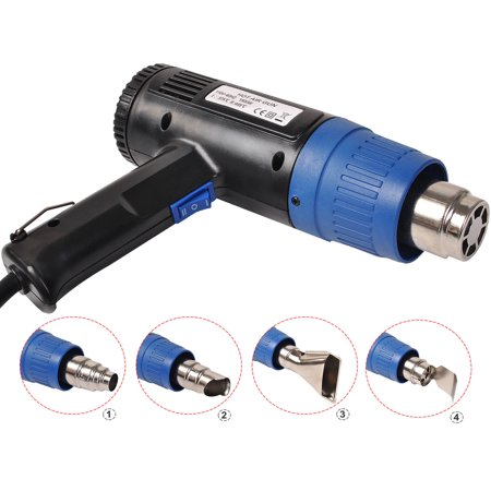 Costway Heat Gun Hot Air Gun Dual Temperature+4 Nozzles Power Tool 2000 W Heater (Best Heat Gun For Phone Repair)
