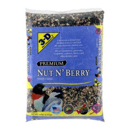 3 D Pet Products Premium Nut N Berry Dry Wild Bird Food  14 Lb