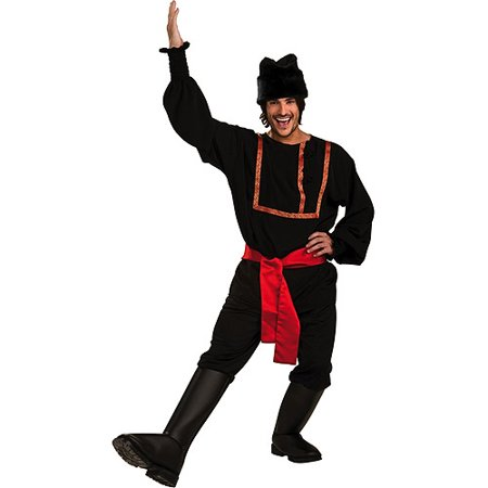 Mens Black Russian Halloween Costume - Traditional Russian Costume