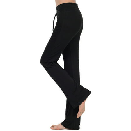 Women's Yoga Jogging Loose Stretch High Waist Sports Lace Up Pants