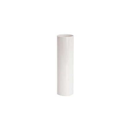 WHITE PLASTIC CANDLE COVER