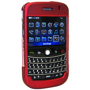 Premium Polished Red Snap On Hard Shell Case for BlackBerry Bold