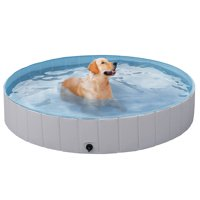 Deals on SmileMart Foldable Pet Swimming Pool Wash Tub XX-Large 63-in