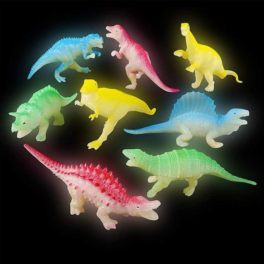 "12 PC 5.5/"" Glow in Dark dinosaures animal figure Educational Toys Kids prix"