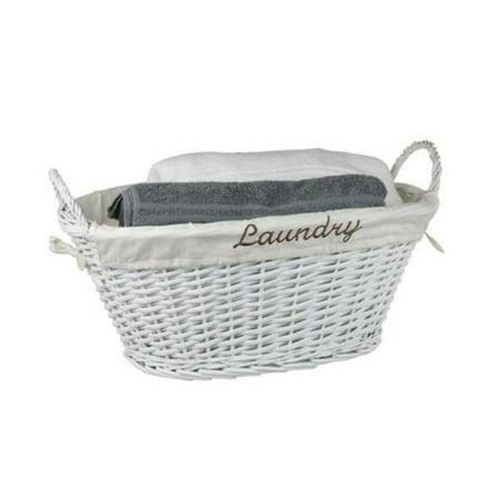 - Laundry Basket, White