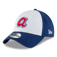 Atlanta Braves New Era Cooperstown Collection Core Classic Replica 9TWENTY Adjustable Hat - White/Royal - OSFA