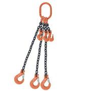 "1/2"" x 10' - Adjustable Triple Leg Chain Sling w/ Sling Hook - G80"