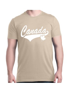Product Image Shop4Ever Men s Canada White with Leaf Proud Canadian Flag  Graphic T-shirt 346b99f031a