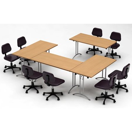 Team Tables Meeting Seminar Piece Rectangular H X W X - 120 conference table