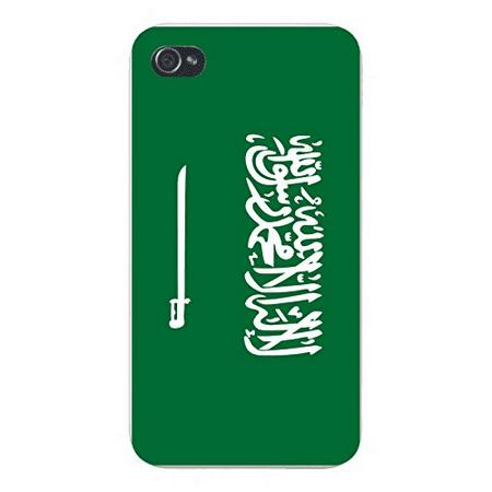 Apple iPhone Custom Case 4 4S White Plastic Snap On - World Country National Flags - Saudi Arabia - Arabian Accessories