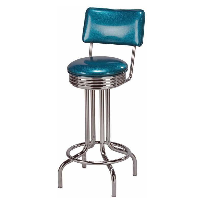 Regal Cascade 30 in. Retro Metal Bar Stool