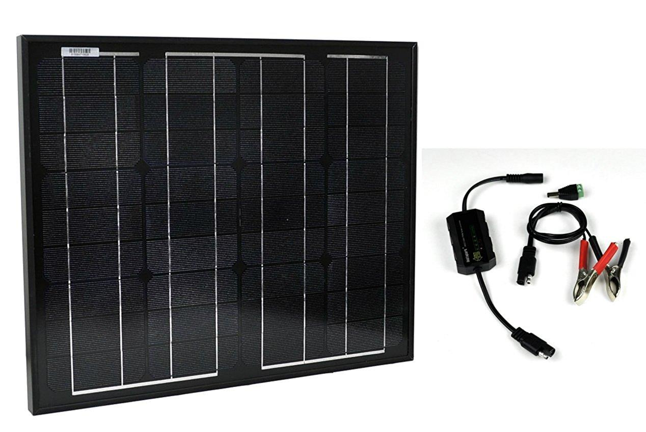 Click here to buy Instapark SP-30 12 Volts 30 Watts Monocrystalline PV Solar Panel with PWM Solar 12V 5A Charge Controller by Instapark.