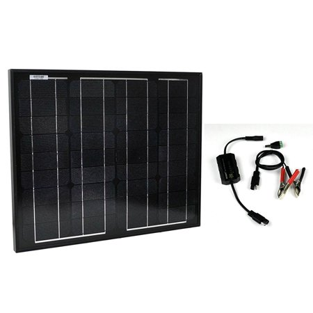 Instapark SP-30 12 Volts 30 Watts Monocrystalline PV Solar Panel with PWM Solar 12V/5A Charge