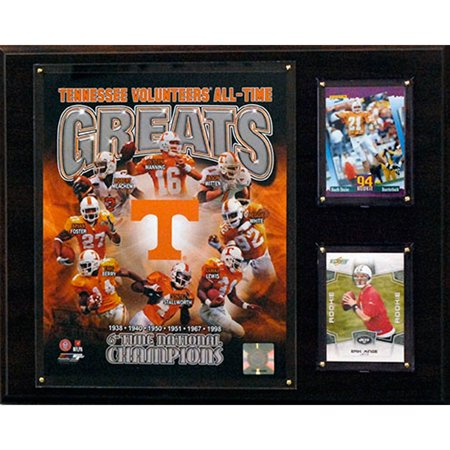 C&I Collectables NCAAF 12x15 Tennessee Volunteers All-Time Greats Photo Plaque
