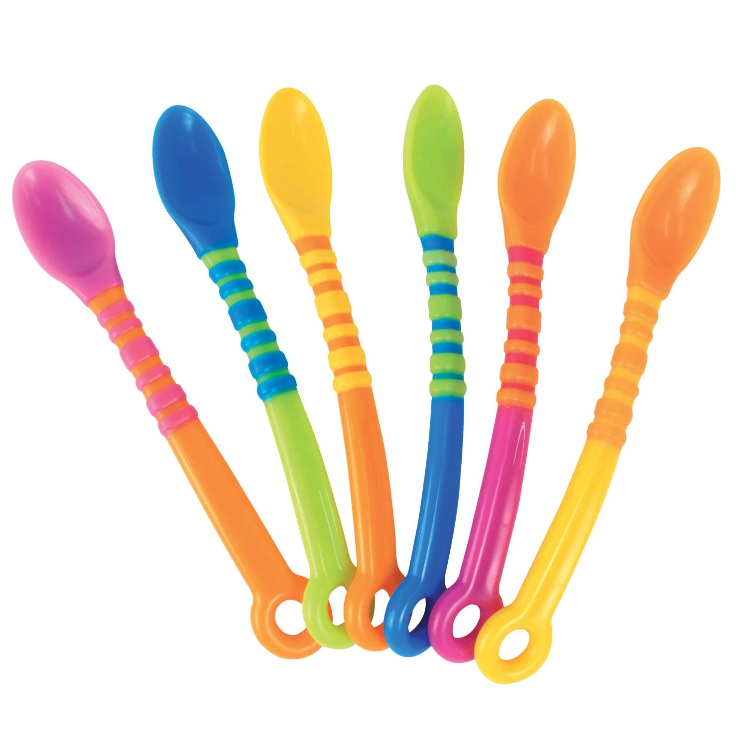 Sassy First Solids Soft Tip Spoons - 6 Pack