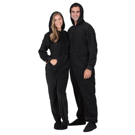 030bc1c059 Footed Pajamas - Footed Pajamas - Midnite Black Adult Hoodie Drop ...