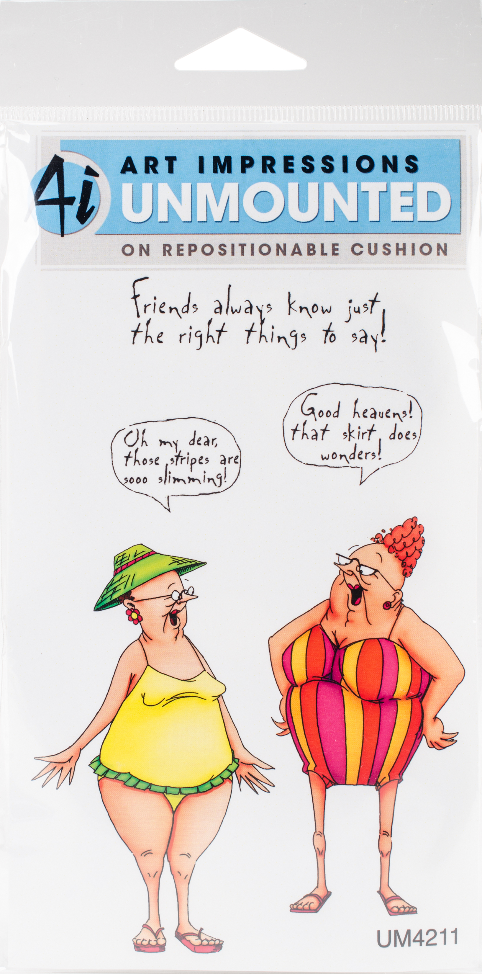 Art Impressions Golden Oldies Cling Rubber Stamp Selma & Gladys by Art Impressions
