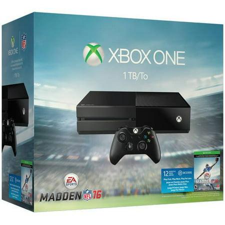 Refurbished Xbox One 1 TB Madden NFL 16 Console Bundle -  Microsoft, 0019034198830