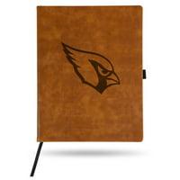 Arizona Cardinals Sparo Laser Engraved Large Notepad - Brown