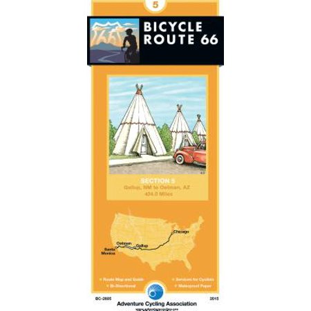 Bicycle Route 66 Map 5 Gallup New Mexico Oatman Az 404 Miles