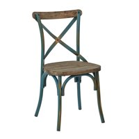 Somerset X Back Antique Metal Dining Chair