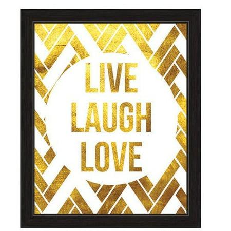 Click Wall Art Live Laugh Love Framed Textual Art - Walmart.com