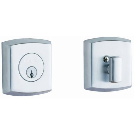 Baldwin Hardware Soho Single - Baldwin Soho Deadbolt with Single Cylinder in Polished Chrome